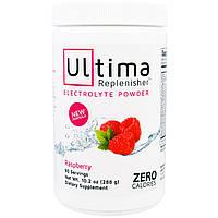 """Ultima Health Products, """"Предельный восполнитель"""", порошок электролитов с малиновым вкусом, 10,2 унции (288 г)"""
