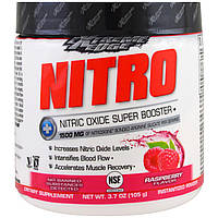 Bluebonnet Nutrition, Пищевая добавка Extreme Edge, Nitro, малиновый аромат, 3.7 унции (105 г)