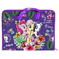 Портфель пластиковый на молнии А4 KITE 2017 My Little Pony 202-1 (LP17-202-01)