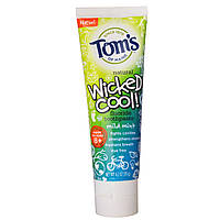 Tom's of Maine, Зубная паста с фтором Wicked Cool!, мягкая мята, 4,2 унции (119 г)
