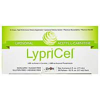 LypriCel, Липосомал, ацетил L-карнитин, 30 упаковок, 5,7 мл (0,2 жидкие унции) каждая