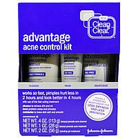 Clean & Clear, Набор для борьбы с угревой сыпью «Преимущество», 3 шт. в комплекте