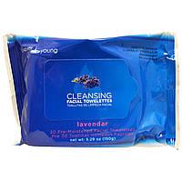 My Spa Life, Очищающие салфетки для лица, Лаванда, 30 штук