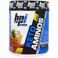 BPI Sports, Keto Aminos, кетогенические соли бета-гидроксибутирата и аминокислоты, тропический фриз, 1,32 фунта (600 г)
