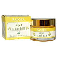 Badger Company, Косметический бальзам, аргана, 1 унция (28 г)