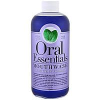 Oral Essentials, Средство для полоскания, формула для чувствительных зубов с цинком, 16 жидких унций (473 мл)