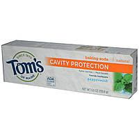 Tom's of Maine, Защита от кариеса с содой, зубная паста с фтором, мятная 5.5 унции (155.9 g)