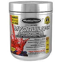 Muscletech, MyoBuild 4X аминокислоты с разветвленной цепью, фруктовый взрыв, 332 г (11.71 oz)