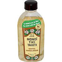 Monoi Tiare Tahiti, Monoi Tiki Tahiti, Сандаловое дерево, 4 жидких унции (120 мл)