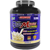 ALLMAX Nutrition, QuickMass Loaded, Rapid Mass Gain Catalyst, Vanilla, 95 oz (2.7 kg)