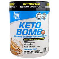 BPI Sports, Keto Bomb, кетогенные сливки для кофе и чая, карамельный макиато, 1 фунт 0,5 унции (468 г)