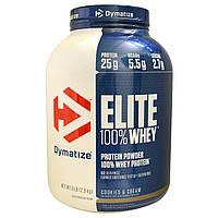 Dymatize Nutrition, Elite, Порошок 100-ного Сывороточного Протеина, Печенье со Сливками, 5 фунтов (2,3 кг)