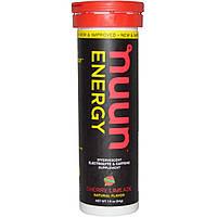 Nuun, Энергия, шипучая добавка с электролитом и кофеином, вишневый лимонад, 10 таблеток, 1,9 унций (54 г)