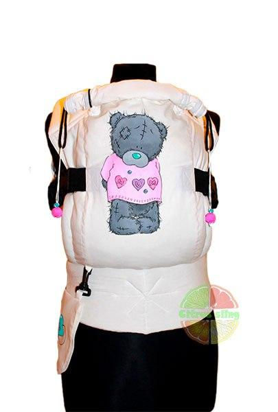 Эрго рюкзак Цитрус слинг Teddy Girl с рисунком ручной работы