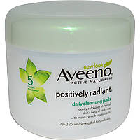 Aveeno, Active Naturals, Positively Radiant Cleansing Pads, 28ct