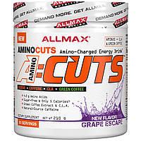 ALLMAX Nutrition, AMINOCUTS, похудение аминокислоты с разветвленной цепью+незаменимые аминокислоты, таурин, линолевая кислота с сопряженными двойными