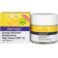 Derma E, Even Tone Brightening Day Cream, SPF 15, 2 oz (56 g)