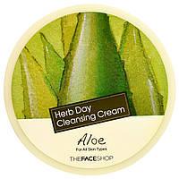 The Face Shop, Очищающий крем Herb Day с алоэ, 5 унций (150 мл)