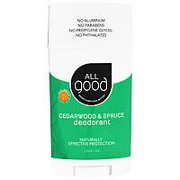 All Good Products, All Good, Deodorant, Cedarwood & Spruce, 2.5 oz (72 g)