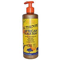 Alaffia, Натуральное африканское черное мыло, без ароматизаторов, 16 жидких унций (475 мл)