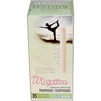Maxim Hygiene Products, Органические тампоны с картонным аппликатором, регулярные, 16 тампонов