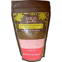 Hugo Naturals, Искрометная соль для ванны, грейпфрут и герань, 397 г (14 унций)