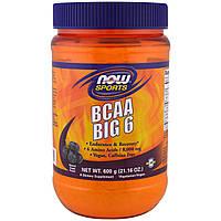 Now Foods, Спортивная добавка, аминокислота с разветвлённой цепью (BCAA) 6, натуральный виноградный ароматизатор, 21,16 унции (600 г)