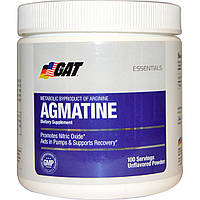 GAT, Essentials, агматин, порошок с натуральным вкусом, 75 г