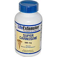 Life Extension, Супер карнозин, 500 мг, 90 растительных капсул