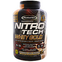 Muscletech, Nitro Tech 100% Whey Gold, Cookies and Cream, 6.00 lbs (2.72 kg)