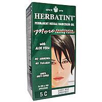 Herbatint, Стойкий растительный гель-краска для волос, 5C светлый пепельный каштан, 4,5 жидких унции