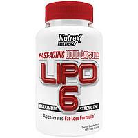 Nutrex Research Labs, Lipo 6, максимальная сила, 120 жидкостных капсул