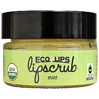 Eco Lips Inc., Органический, скраб для губ, Мята, .5 унций (14.2 г)