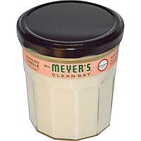 Mrs. Meyers Clean Day, Ароматизированная соевая свеча с запахом герани, 7,2 унции