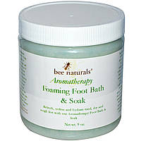 Bee Naturals, Aromatherapy, пенная ванночка для ног и компресс, 9 унций