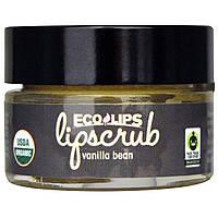 Eco Lips Inc., Органический, скраб для губ, Стручки ванили, .5 унций (14.2 г)
