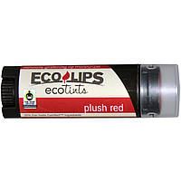 Eco Lips Inc., Ecotints, увлажняющий бальзам для губ, Plush Red, 0.15 унций (4.25 г)
