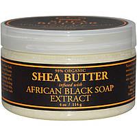 Nubian Heritage, Масло ши, наполненное экстрактом африканского черного мыла, 4 унции (114 г)