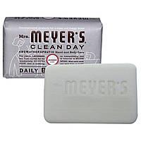 Mrs. Meyers Clean Day, Кусковое мыло для ежедневного использования, аромат лаванды, 150 г (5,3 унции)