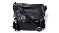 Итальянская кожаная сумка-мессенджер, малая BIM001 черный