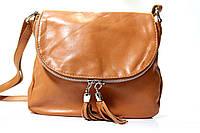 Итальянская кожаная сумка-мессенджер, малая BIM023 оранжевый