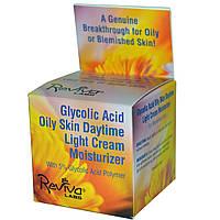 Reviva Labs, Дневной увлажняющий крем для жирной кожи с гликолевой кислотой, 1,5 унции (42 г)