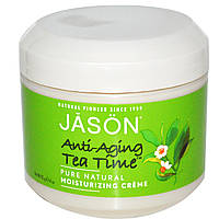 Jason Natural, Anti-Aging Tea Time, увлажняющий крем, 4 унции (113 г)