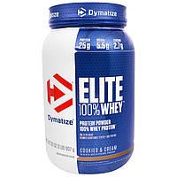 Dymatize Nutrition, Elite, 100-ный Сывороточный Протеин, Печенье со Сливками, 32 унции (907 г)
