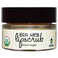 Eco Lips Inc., Органический, скраб для губ, Коричневый сахар, .5 унций (14.2 г)