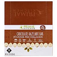 Primal Kitchen, Шоколад, лесной орех, коллаген с травами, 12 батончиков, 1,7 унции (48 г) каждый
