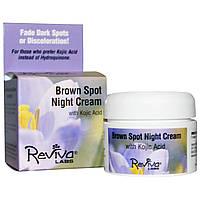 Reviva Labs, Ночной крем против коричневых пятен с койевой кислотой, 1 унция (28 грамм)
