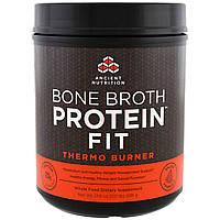 Ancient Nutrition, Костный бульон Protein Fit, термосжигатель, 17,8 унций (506 г)