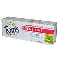 Tom's of Maine, Зубная паста для чувствительных зубов, максимальная прочность, успокаивающая мята, 4 унции (113 г)