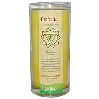 Aloha Bay, Чакральная энергетическая свеча, защита, желтая, 11 унций, 1 свеча